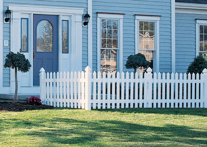 traditional vinyl picket fences
