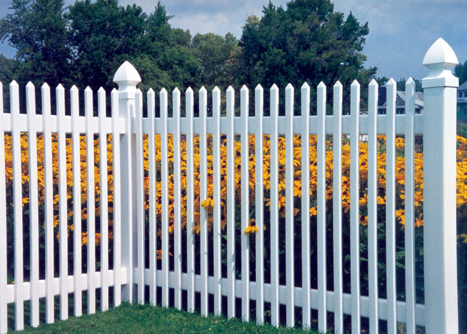 Traditional Vinyl Picket Fences Metropolitan Fence