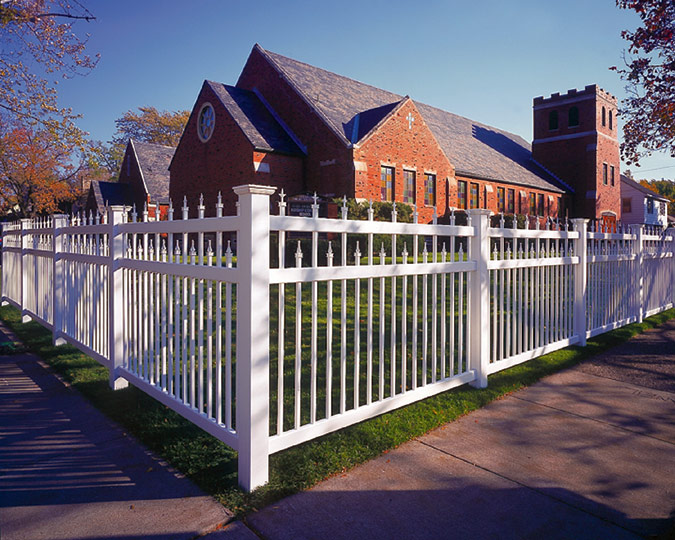 pvc picket fence, vinyl picket fence installation