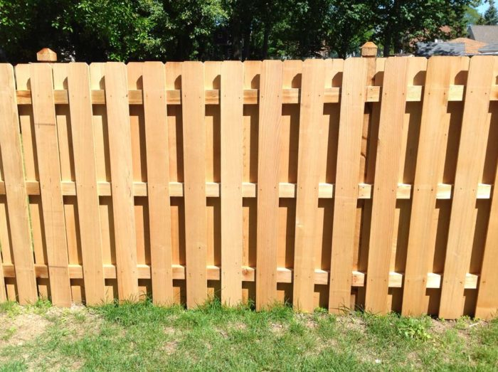 Metropolitan Fence Custom Installs Shadow Box Dog Eared Wood Fences in Milwaukee and Waukesha Wisconsin